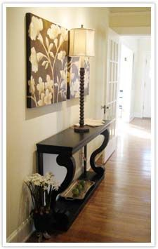 "ideas for a narrow entry way | Narrow Hallway"" from Elizabeth 