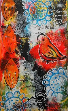 Susanne Rose Designs: Art Journal Page with Handmade Stamps