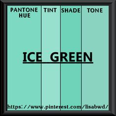 PANTONE SEASONAL COLOR SWATCH ICE GREEN