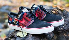 The Nike SB Zoom Stefan Janoski is available now at Nike iD with Pendelton options.