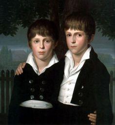 Double Portrait of Paul and Max von Mila by Friedrich Wilhelm von Schadow
