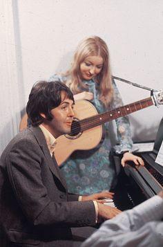 "maccasmccartney: "" ""Paul McCartney and Mary Hopkin, 1968. "" """