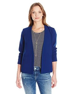 Women's Casual Jackets - PARIS SUNDAY Womens Long Sleeve Crepe Jacket >>> Want additional info? Click on the image. (This is an Amazon affiliate link)