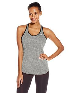 adidas Performance Womens Keyhole Tank Top Small Black *** Find out more about the great product at the image link.
