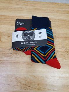 Pair of Thieves Kid-Dad D&M Twinsies Socks Matching Socks, Socks For Sale, 12th Man, Drink Sleeves, Phoenix, Snug, Daddy, Pairs, Comfy