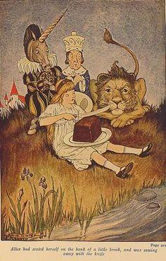 Milo Winter, Alice in Wonderland, 1916 Alice And Wonderland Quotes, Adventures In Wonderland, Wonderland Party, Winter Illustration, Children's Book Illustration, Illustrations, Lewis Carroll, Pin Up, Fairytale Art