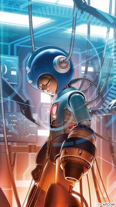Mega man By Shinkiro Metroid, Mega Man, Geeky Wallpaper, Megaman Series, Arcade, Fighting Robots, Arte Robot, Astro Boy, Video Game Characters