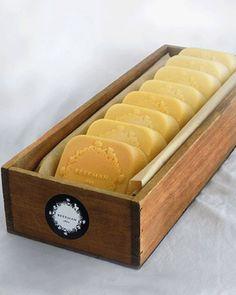 I would like try making this soap.  Dr. Brent Ridge's Goat Milk Soap (via Martha Stewart).  Uses olive oil, coconut oil & soy or vegi shortening for moisturizer.