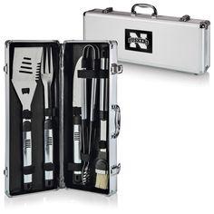 5 Piece BBQ Tool Set w/ Nebraska Cornhuskers Carrying Case