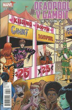 Marvel Deadpool vs Gambit comic issue 1 Limited variant