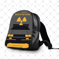 Back To The Future Minimal Movie Poster School Bag Backpacks
