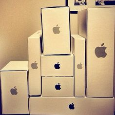 Apple products belong to these boxes