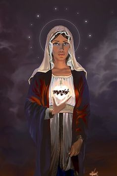 Blessed Mother Mary, Divine Mother, Blessed Virgin Mary, Virgin Mary Art, Jesus Mother, Religious Icons, Religious Art, Madonna, Immaculée Conception