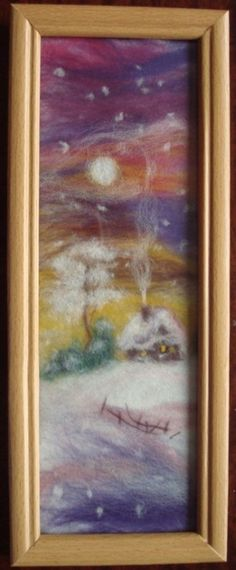 "Gallery.ru / Деревенский пейзаж - ""Шерстяная акварель"" - Vladna"