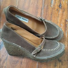 "Selling this ""Steve Madden wedge moccasin Mary Janes"" in my Poshmark closet! My username is: acapr220. #shopmycloset #poshmark #fashion #shopping #style #forsale #Steve Madden #Shoes"