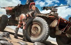 Sergey Kondratovich - Post Apocalyptic pin up 7 Apocalypse Tattoo, Apocalypse World, Apocalypse Art, Post Apocalyptic Girl, Apocalyptic Fashion, Fantasy Art Women, Sci Fi Fantasy, Pinup, Look Wallpaper