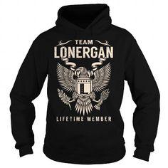 Awesome Tee Team LONERGAN Lifetime Member - Last Name, Surname T-Shirt Shirts & Tees