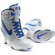 http://www.asneakers4u.com/ Nike Air Force 1 High Heels Blue White