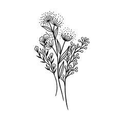 Wildflower Drawing, Wildflower Tattoo, Tatoo Flowers, Flowers To Draw, Flower Bouquet Tattoo, Dainty Flower Tattoos, Flower Tattoo Drawings, Plant Tattoo, Tattoo Signs