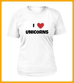 I LOVE UNICORNS TSHIRT - Einhorn shirts (*Partner-Link)