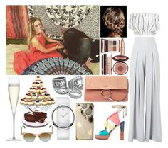 """""""Celebrating Perrie's birthday with her and friends"""" by zandramalik ❤ liked on Polyvore featuring AQ/AQ, Faithfull, Jimmy Choo, LSA International, Skinnydip, Calvin Klein, Chloé, Charlotte Tilbury and Oliver Peoples"""