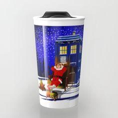 10th Doctor who Relax before Christmas TRAVEL MUG #Travelmug #mug #metalmug #painting #digital #ink #watercolor #comic #illustration #popart #christmas #newyear #tardisdoctorwho #doctorwho #tardis #timelord #badwolf #drwho #timetravel #starrynight