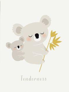 Zü poster Koala tenderness 29.7 x 42 cm