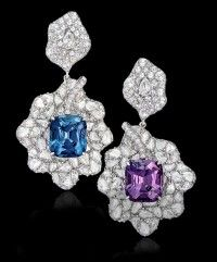Margot McKinney Cushion Cut Blue & Pink Spinel Earrings