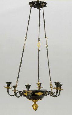 ELEGANTER ZIERLICHER KRONLEUCHTER FRANKREICH RESTAURATION 1830 Empire Lüster