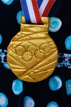 DIY Olympic Gold Medals using Pluffy, metallic paint,and ribbon | Alphamom
