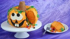 This impressive cake is easy to make with just a couple of Bundt cakes and decoration, you can make your own cute pumpkin pinata reveal cake that has a surprise inside!