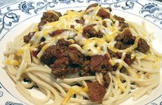 Cincinnati-Style Turkey Chili - a recipe that is based off an old, authentic Cincinnati chili recipe ... the only thing I'd do different would be to hit it with a bit of cinnamon & perhaps a bit more cumin.    Still an a lo-carb treat at 272 Calories; 13g Fat; 29g Protein; 10g Carbohydrate; 3g Dietary Fiber (7g Net Carbs) per serving.    And as the author suggests, while they had it over 'Zucchini Pasta', I think I'd pile it up on some 'Spaghetti Squash' w/onions & a dollop of Greek Yogurt.