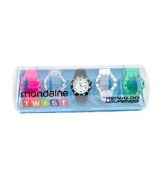 d0b05500bd8 Kit relógio Mondaine Twist por Reinaldo Lourenço