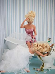 New bride Barbie and her faithful MOH, Barbie