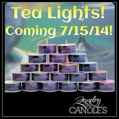 If you want to know what all our scents smell like then you need to order the tea lights that come with 30 different scents hurry