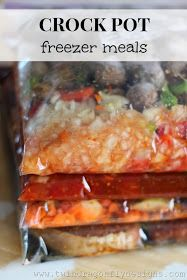 Crock Pot Freezer Meals #crockpot #mealplanning