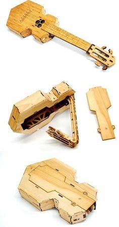 lardyfatboy: The folding Ukulele was designed by origami expert Brian Chan and is produced by Ponoko =Lardys Ukulele of the day - a year ago --- https://www.pinterest.com/lardyfatboy/