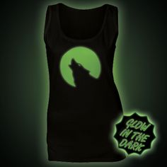 Glow in the Dark Women's Tops & Vests - Glow Clothing Ethical Clothing, Moonlight, Passion For Fashion, Vests, The Darkest, Women's Tops, Wolf, T Shirt, Clothes
