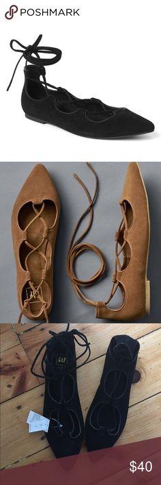 Lace up ballet flats Gap black lace up ballet flats GAP Shoes Flats & Loafers
