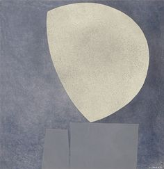 Italo Valenti (Swiss, 1912-1995), Lune grise [Grey moon], 1976. Collage.