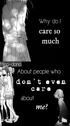 sad quotes & We choose the most beautiful ANIME MERCHANDISE free worldwide shipping!I hate myself for caring to the wrong persons in my life. :) most beautiful quotes ideas Angst Quotes, Sad Anime Quotes, Dark Quotes, Depression Quotes, It Hurts, Inspirational Quotes, This Or That Questions, Feelings, People