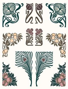 A really nice selection of art nouveau inspired images