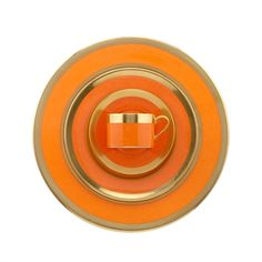 William Yeoward Avington Peking Orange Dessert Plate