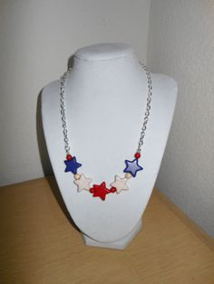 Star Power/Genuine howlite star beads in by CreationsbyMaryEllen