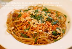 A Small Snippet: Spicy Thai Noodles yum! Noodle Recipes, Thai Recipes, Asian Recipes, Vegetarian Recipes, Dinner Recipes, Cooking Recipes, Pasta Dishes, Food Dishes, Spicy Thai Noodles