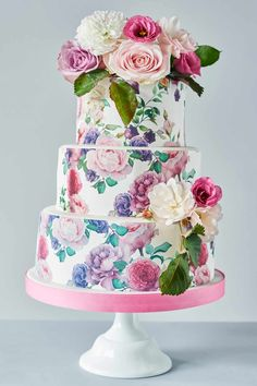 Another London cake maker who isn't afraid to think outside of the box is the team at Bee's Bakery. Their colourful wedding cakes are exquisitely made and really are centrepiece-style wedding cakes.