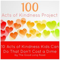 Toddler Approved!: 10 Simple Acts of Kindness Kids Can Do {The Good Long Road}