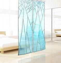 Abstrait arbre Design ombre pure pour la décoration de l'espace. Art coréen tissu, Jogakbo