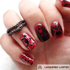 Lacquered Lawyer | Nail Art Blog: Black Widow