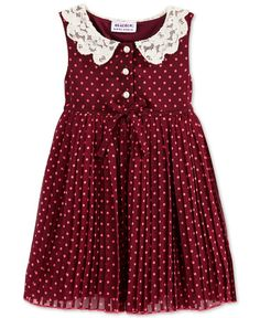 Cool Dresses Blueberi Boulevard Baby Girl's Dot Dress - Baby Girl months) - Kids &a. Little Girl Fashion, Toddler Fashion, Fashion Kids, Cute Outfits For Kids, Toddler Outfits, Little Girl Dresses, Girls Dresses, Outfits Niños, Fashion Outfits